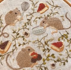 Illustration, Art Inspo, Embroidery Patterns, Hand Embroidery Stitches, Floral Embroidery, Needlework, Cross Stitch, Cottage, Crafty