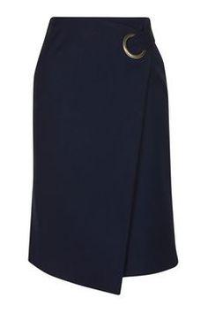 Photo 1 of Premium Wrap Midi Skirt Mode Bcbg, Tokyo Street Fashion, Topshop Skirts, Work Wardrobe, Capsule Wardrobe, Skirt Outfits, Affordable Fashion, Work Wear, Midi Skirt