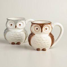 Surprise Owl Mugs, Set of 2 - v1