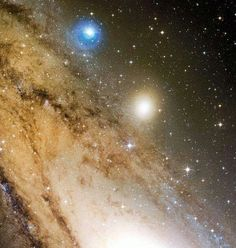 Andromeda Galaxy as seen from the Mauna Kea telescope, Hawaii