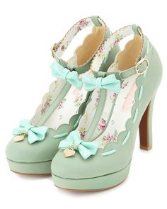 Mint bow heels / liz lisa