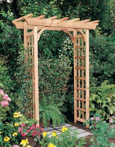 nice 63 DIY Project Wooden Arbor for your Garden https://wartaku.net/2017/07/18/63-diy-project-wooden-arbor-garden/