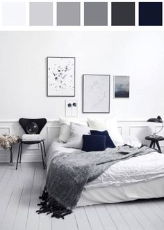 Bedroom color palette - black dark-cornflower-blue dark-grayish-cornflower-blue dark-grayish-mulberry dark-tangelo