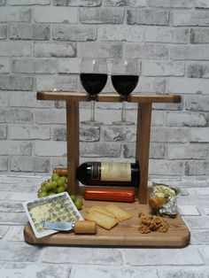 Wedding gift,Cheese board, Wine rack,anniversary gift,birthday gift,couple gift,Christmas gift,house warming gift,Antique pine by simplywoodkraft on Etsy https://www.etsy.com/uk/listing/549235049/wedding-giftcheese-board-wine
