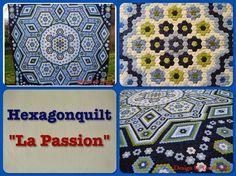"""Group blog showcasing the progress others are making on the simply stunning """"La Passion"""" quilt designed by Grit"""