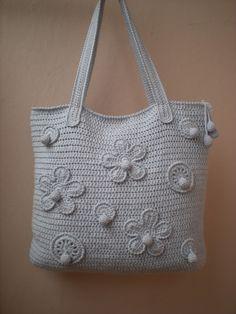 """EmmHouse: Grey """"Stella"""" bag/purse"""