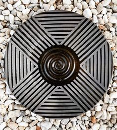 Striped Black Platter » ZZIEE CERAMICS