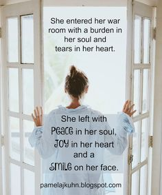 Meeting w/ God changes our outlook. Life gives us trials & pain, but when we meet w/ our Heavenly Father, He changes our heart -- even if the situation remains. (F/ my Dear SIC Debbie! Prayer Room, My Prayer, Prayer Closet, Christian Life, Christian Quotes, Women Of Faith, Walk By Faith, Prayer Warrior, Spiritual Warfare