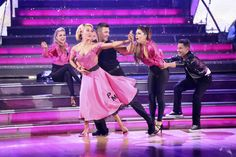 James Maslow and Peta Murgatroyd dance the Quickstep on week 6 of ABC's 'Dancing With The Stars' season 18 on April 21, 2014. They received 35 out of 40 points from the judges.