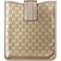 97acf234323 Gucci Gold GG Print iPad Case (975 BRL) ❤ liked on Polyvore featuring  accessories