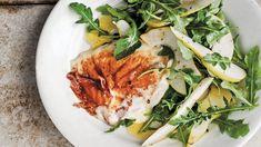 Talia's Quick Italian Tomato-Black Olive Sauce with Spaghetti Main Dishes, Side Dishes, Meatball Sliders, Arugula Salad Recipes, Bacon Potato, Pear Salad, Best Bacon, Corn Chowder, How To Make Cheese