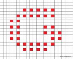 Swirls and Sprinkles: free crochet letter G block/square pattern