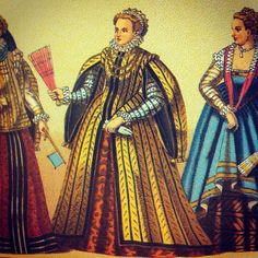 """Neapolitan married princess. 16th century. #fashion #book """"Racinet's full-color pictorial history of western costume: with 92 plates showing over 950 authentic costumes from the Middle Ages to 1800"""" by Auguste Racinet"""