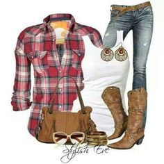 Ideas for party outfit jeans boots fall fashion Country Style Outfits, Country Girl Style, Country Fashion, Western Outfits, My Style, Western Wear, Country Style Clothes, Western Boots, Casual Winter Outfits