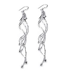 @Overstock.com - Sterling Silver Trendy Long Spiral Swirl Earrings (Thailand) - Draw attention to your ears with these sterling-silver swirl earrings. These long dangling earrings are lightweight and comfortable, and they will enhance any trendy outfit. The polished shiny finish further enhance their visual appeal.  http://www.overstock.com/Worldstock-Fair-Trade/Sterling-Silver-Trendy-Long-Spiral-Swirl-Earrings-Thailand/7654777/product.html?CID=214117 $29.99