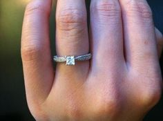 Princess-Cut White Sapphire and Diamond Accent Promise Ring