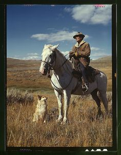 Shepherd with his horse and dog on Gravelly Range, Madison County, Montana (LOC) Lee, Russell, 1903-1986, photographer.