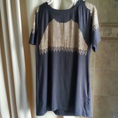 Black elegant dress 65% cotton 35% polyester fit size 10 to 12 Dresses Midi