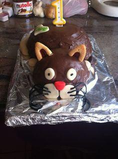 Gâteau chat pour les 1 an de Chad avec les amis