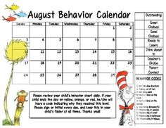 Behavior Calendar on Pinterest | Monthly Behavior Calendar, Behavior ...