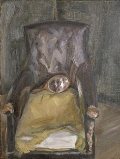 Lucian Freud - Hand Mirror in a Chair (1966)