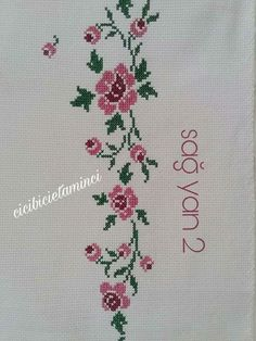 Beaded Cross Stitch, Cross Stitch Flowers, Hand Embroidery Designs, Embroidery Patterns, Diy And Crafts, Small Cross Stitch, Face Towel, Hand Embroidery Stitches, Cross Stitch Pictures