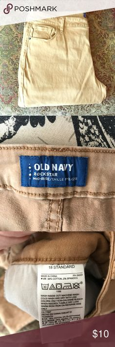 Old navy soft khaki Size 18 worn a few times at work, great condition. Most offers accepted! Happy poshing! I throw in freebies! Old Navy Pants Leggings