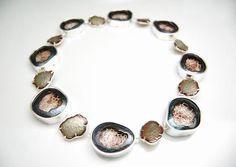 Fragmented Self by Michelle Startzman | Sterling silver, brass, copper, enamel  |  2012