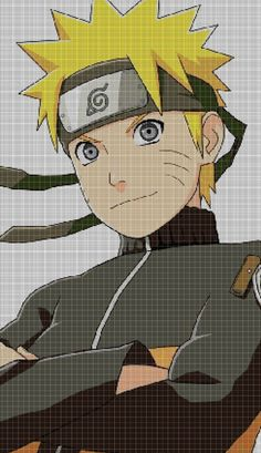 Digital computer model - not printed on paper. This is a pattern only! Not a kit or finished piece! Sasuke, Naruto Uzumaki, Embroidery Patterns, Cross Stitch Patterns, Crochet Patterns, Anime Pixel Art, Pixel Art Templates, Stitch Cartoon, Minecraft Creations