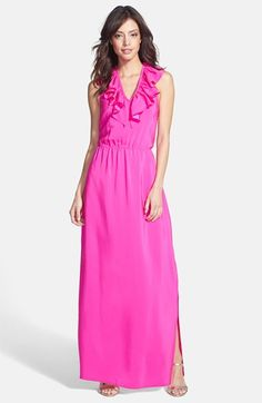 Amanda Uprichard Ruffle Halter Maxi Dress available at #Nordstrom