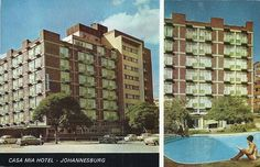 Casa Mia Hotel Johannesburg City, South Africa, Landscape Photography, African, 1970s, Cities, Southern, Hotels, History