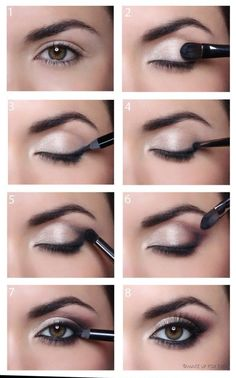 Perfect makeup for brown and green eyes!. This is always my makeup when i have a special occasion :D
