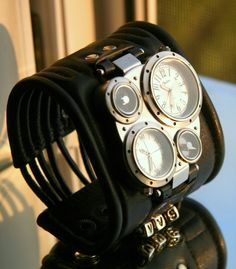 """Men's Wrist watch leather bracelet """"Pathfinder-2"""" - SALE - Worldwide Shipping - Steampunk Watch. $150.00, via Etsy."""