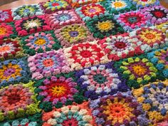 Crochet Afghan Blanket Gorgeous Sublime Floral by Thesunroomuk