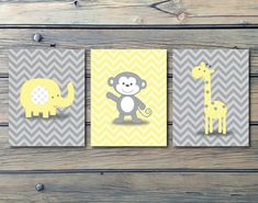 Hey, I found this really awesome Etsy listing at https://www.etsy.com/listing/217627532/chevron-monkey-yellow-gray-nursery-decor