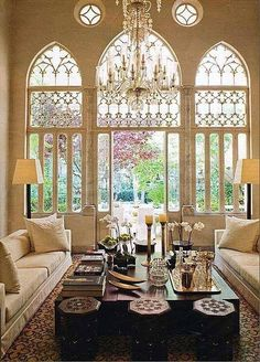 Classic cathedral arch windows