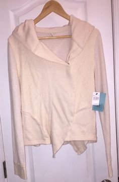 NWT $90 Rip Curl Surf Heart and Soul Hooded Blazer Cardigan Jacket Hoodie Ivory  #Ripcurl #Hooded #Work