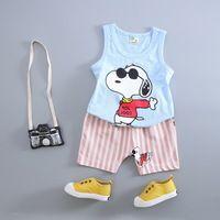 Baby boy summer baby 1 - 2 years old kids clothes 3 male child vest set child 4 0