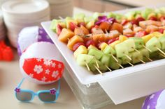 Fruit Skewers- Summer Backyard BBQ, Beach Party or a Kids Birthday Bash