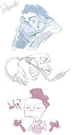 Random IZ Sketches by AgentHisui.deviantart.com on @DeviantArt
