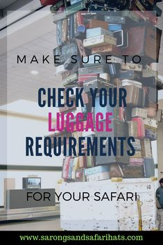 Going on safari in Africa often involves small planes to get you to your remote safari destination. These planes have strict luggage limitations. Here are a few tips to help you when deciding on what luggage to take. Safari Hat, Airplane Travel, Canoe Trip, Long Haul, African Safari, How To Find Out, How To Make, Safety Tips