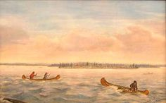 Caughnawaga Indians near Lake St Louis Canadian Painters, Canadian Artists, Cornelius, Winter Scenes, St Louis, 19th Century, Landscape, Paintings, Outdoor