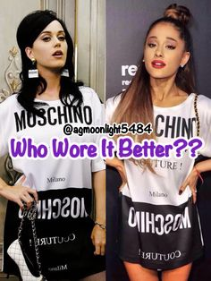 @agmoonlight5484 Who Wore It Better?? My Opinion...Ariana!! But Katy looks good in it too