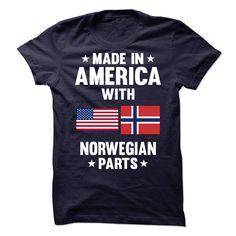 Made in America with Norwegian Parts - T-Shirt, Hoodie, Sweatshirt