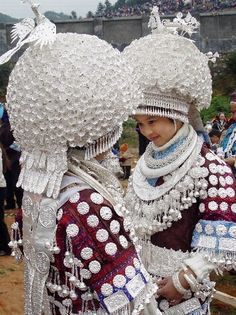 The Miao  is an ethnic group recognized by the government of the People's Republic of China (PRC) as one of the 55 official minority groups. now it is their costume for their important festival.