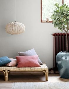 The decor goes into nomadic mode for the summer, Home Accessories, A rattan bench, Broste Copenhagen. Danish Interior, Scandinavian Interior, Bamboo Architecture, Broste Copenhagen, Nordic Design, Trends, Rattan, Home Accessories, Lights