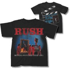 Rush Moving Pictures World Tour 1981 T-shirt