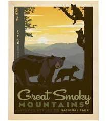 smoky mountain print