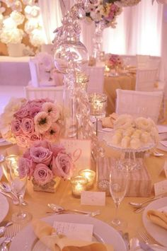 #Blush Wedding Reception ... Wedding ideas for brides, grooms, parents & planners ... itunes.apple.com/... … plus how to organise an entire wedding ♥ The Gold Wedding Planner iPhone App ♥ | WefollowPics