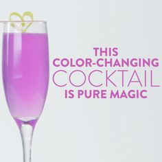 Wow your friends with this fun party trick! Cabbage juice is a natural pH indicator and will change colors as you add ingredients that are either more basic or acidic — so this pretty cocktail changes from blue to pink in front of your eyes. Now, if you're worrying about the flavor, don't. We've taste tested this one extensively, and it tastes simply delicious. So chill a few glasses and get ready for your friends to be amazed.